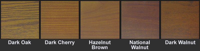 Sample wood door finishes from The Baut Studios.
